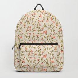 Vintage Floral Pattern Backpack