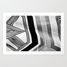 Modern Zebra Abstract Art Print