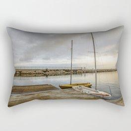 Sunrise on the marina Rectangular Pillow