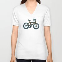 bike V-neck T-shirts featuring Bike by Jason Grube