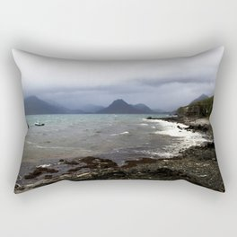Elgol Scotland - Stormy Seas Rectangular Pillow