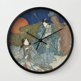 Jo and Uba - Japanese Art Wall Clock