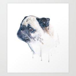 Pug Forest Art Print