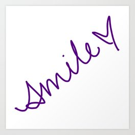 Purple Smile Art Print