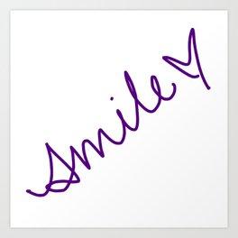 Purple Smile Art Print