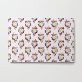 pizzacorn floral Metal Print