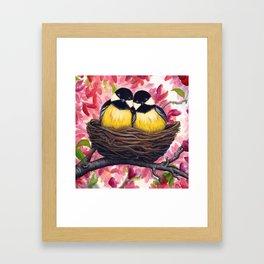 Chickadees Framed Art Print