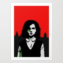 Oxford Girl Art Print