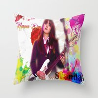 scandal Throw Pillows featuring Scandal Baby by Don Kuing