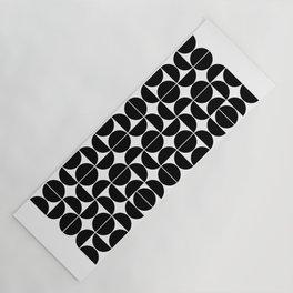 Mid Century Modern Geometric 04 Black Yoga Mat