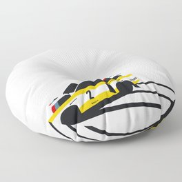 Quattro Slide Rally Car Floor Pillow