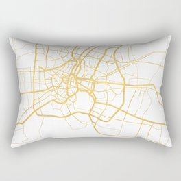 BANGKOK THAILAND CITY STREET MAP ART Rectangular Pillow