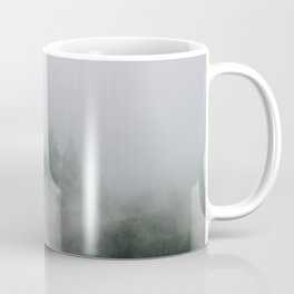 Mysterious moody foggy Forest - Landscape Photography Coffee Mug