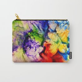 Abstract Encaustic Colorful Flowers, Carry-All Pouch
