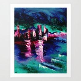 """Victoria Harbor"" Painting Art Print"