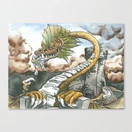 Tower Top Climb Canvas Print
