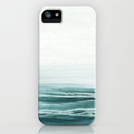hazy emerald sea iPhone Case