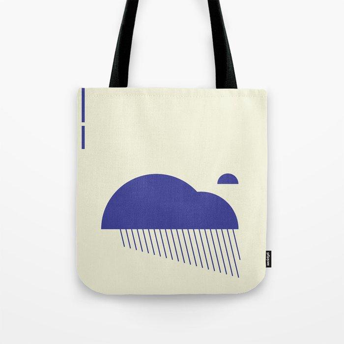Minimal Clouds Rain Tote Bag