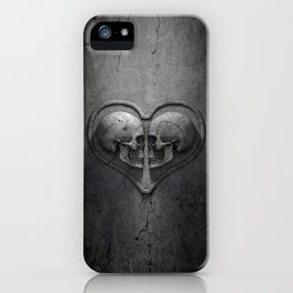 Gothic Skull Heart iPhone Case