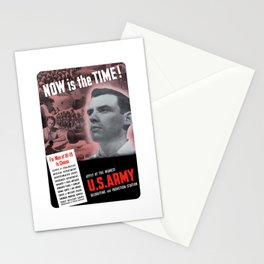 Now Is The Time -- Vintage Army Recruiting Stationery Cards