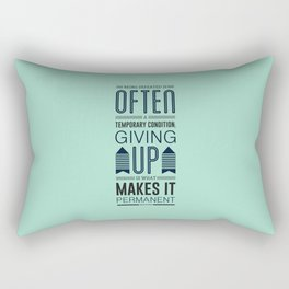 Lab No. 4 Being defeated is often a temporary condition Marilyn vos savant Quote poster Rectangular Pillow