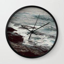 Cyan Sea #1 Wall Clock