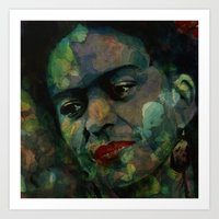 frida Art Prints featuring Frida by Paul Lovering Watercolors