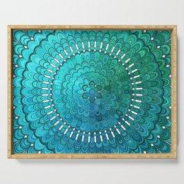 Turquoise Mandala Serving Tray