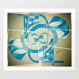 The verge Art Print