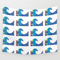 hokusai Wall Tapestries featuring Hokusai Rainbow_Bs by FACTORIE