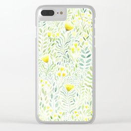 Watercolour Wildflowers Modern Abstract Clear iPhone Case