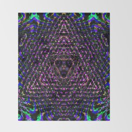 Ambiguous Merkaba Throw Blanket