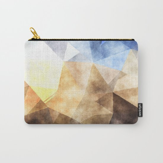 On the fields- Abstract watercolor triangle pattern Carry-All Pouch