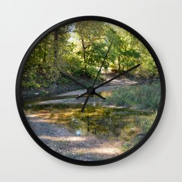Where Canoes and Raccoons Go Series, No. 21 Wall Clock