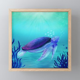 Underwater friends Framed Mini Art Print