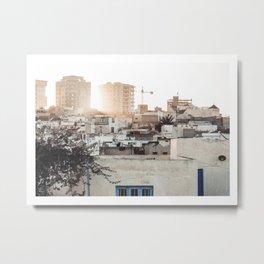 Oriental City Sunset Metal Print