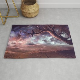 It made scars in the sky  Rug