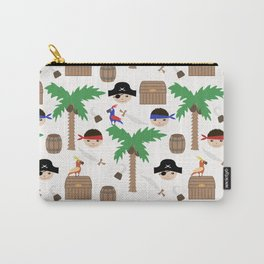 Seamless pirate colorful kids retro background pattern Carry-All Pouch