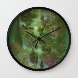 Big Green Tree of Life Wall Clock