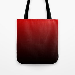 Red and Black Gradient Tote Bag