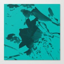 fleur bleue Canvas Print