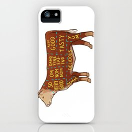 Cow Cuts iPhone Case