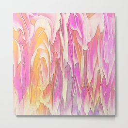 244 - Waterfall of petals abstract design Metal Print