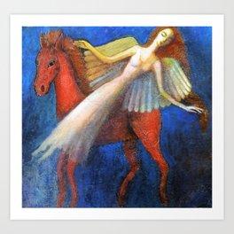 Angel Horse Art Print