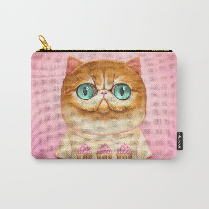 Cupcake Cat Carry-All Pouch