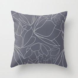 Breakfast Tea - Blue Throw Pillow