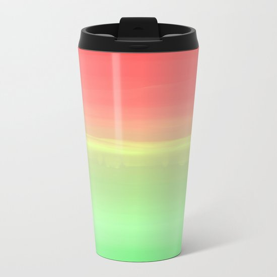 Summer Watermelon Metal Travel Mug