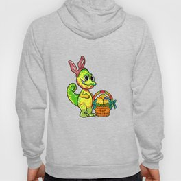 Cute Chameleon Easter Eggs Egg Hunt graphic Hoody