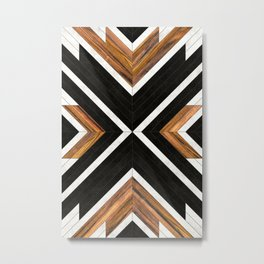 Urban Tribal Pattern 1 - Concrete and Wood Metal Print