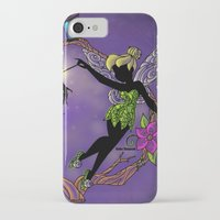 tinker bell iPhone & iPod Cases featuring Sihouette Tinker Bell by Katie Simpson a.k.a. Redhead-K